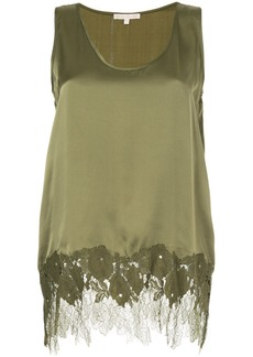 Gold Hawk lace insert blouse