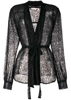 Gold Hawk lace loose fit blazer