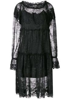 Gold Hawk lace midi dress