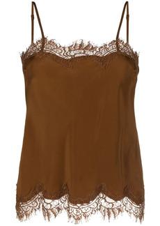 Gold Hawk lace-panel camisole