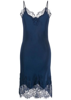Gold Hawk lace slip dress