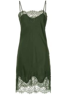 Gold Hawk lace trim slip dress