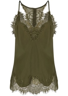 Gold Hawk lace-trimmed camisole tank top