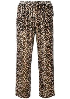 Gold Hawk leopard print velvet trousers