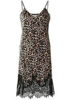 Gold Hawk leopard printed dress