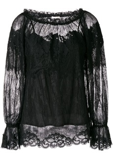 Gold Hawk longsleeved lace blouse