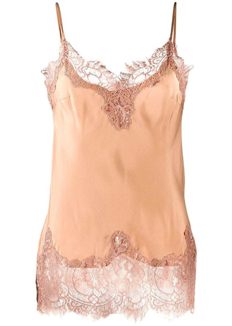 Gold Hawk sleeveless lace detail top