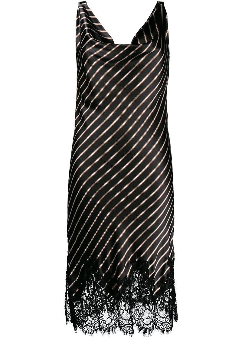 Gold Hawk Stripe slip dress