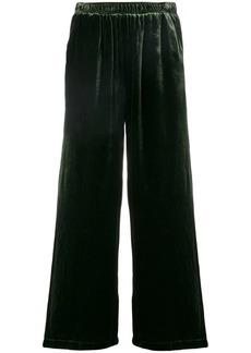 Gold Hawk velvet cropped trousers