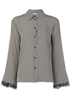 Gold Hawk vertical stripe shirt