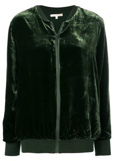 Gold Hawk zipped bomber jacket