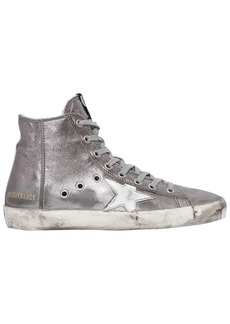 Golden Goose 20mm Francy Metallic Leather Sneakers