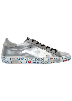 Golden Goose 20mm Super Star Metallic Leather Sneaker