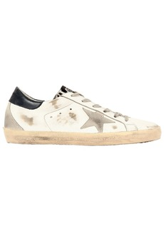 Golden Goose 20mm Super Star Ponyskin Tongue Sneakers