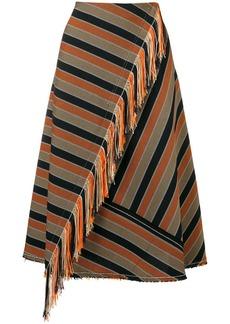 Golden Goose A-line striped skirt