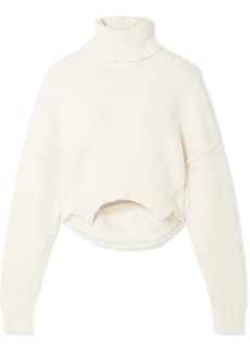 Golden Goose Amber Cropped Knitted Turtleneck Sweater