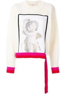 Golden Goose angel print distressed sweater
