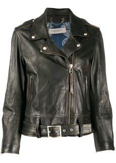 Golden Goose asymmetric biker jacket