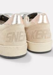 Golden Goose Ball Star Beige Suede Low-Top Sneakers