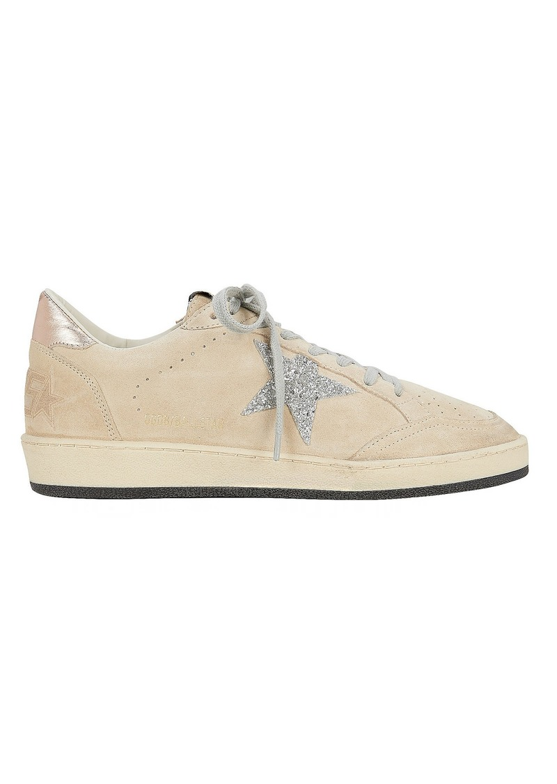 Golden Goose Ball Star Beige Suede Low-Top Sneakers