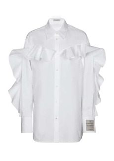 Golden Goose Beata ruffled cotton poplin shirt