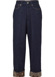 Golden Goose Breezy Cropped High-rise Wide-leg Jeans