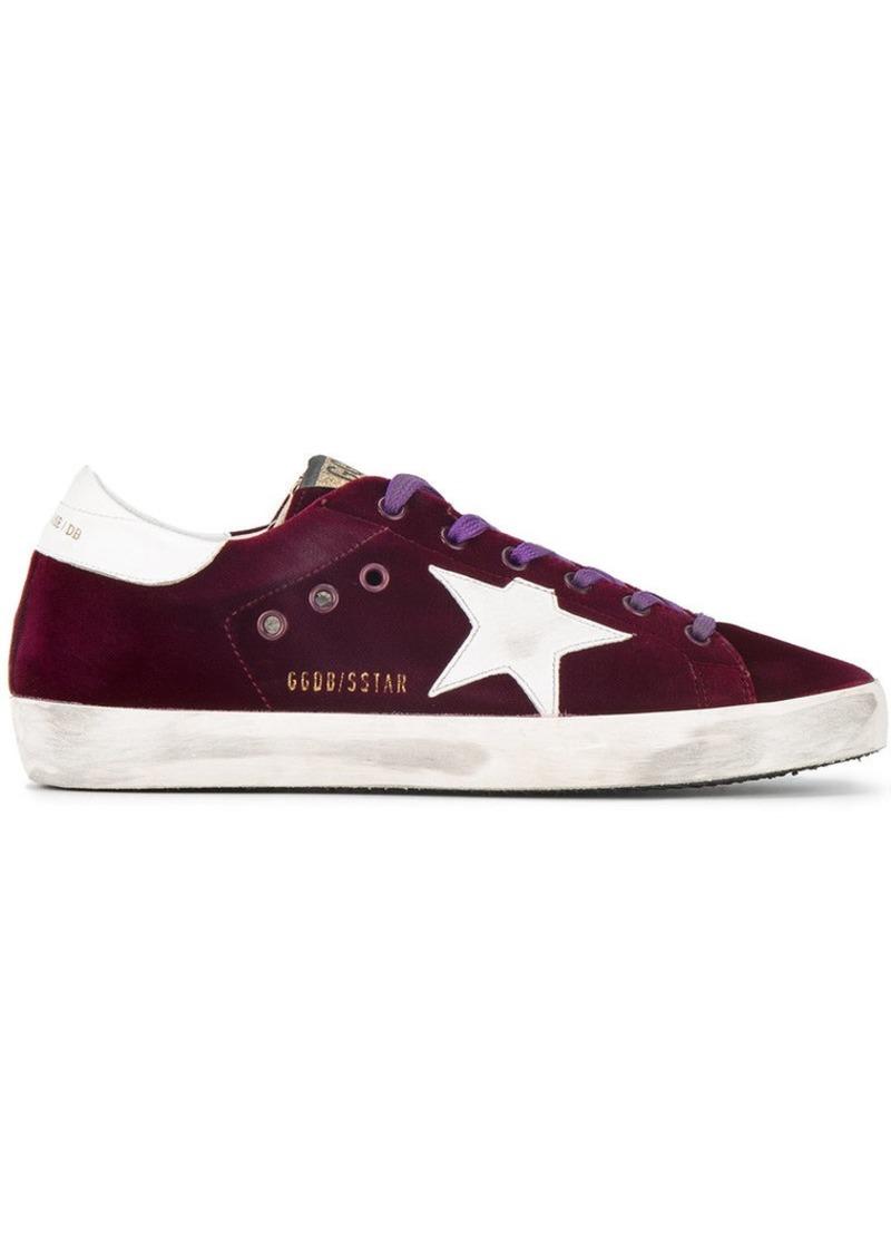 san francisco 4a001 5790d Burgundy Superstar Velvet sneakers