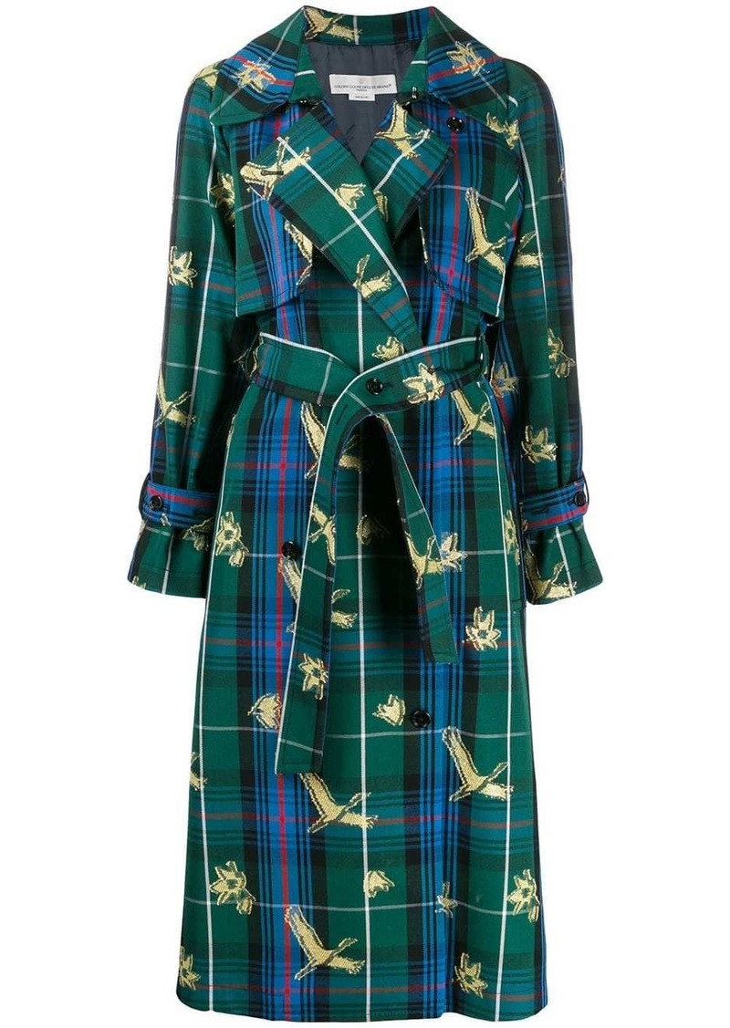 Golden Goose checked jacquard coat