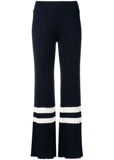 Golden Goose pleated rib flared trousers