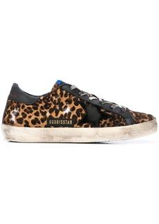 Golden Goose distressed leopard print sneakers