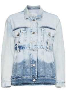 Golden Goose Faded denim jacket with belt