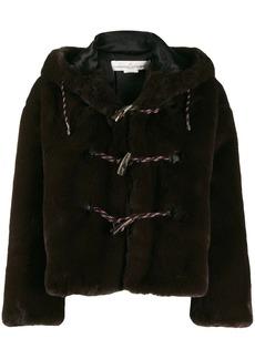 Golden Goose faux fur hooded duffle coat