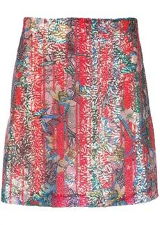 Golden Goose floral embroidered skirt