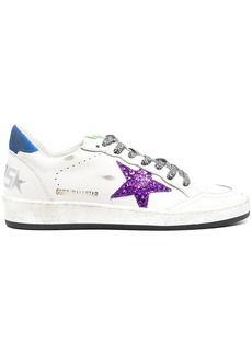 Golden Goose glitter-detail lace-up trainers
