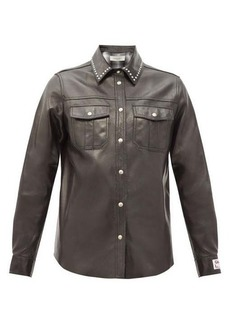 Golden Goose Aleida studded leather shirt
