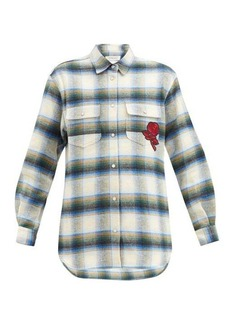 Golden Goose Allison checked cotton-flannel shirt