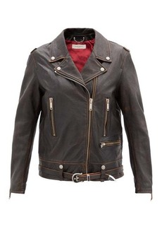 Golden Goose Andrea leather biker jacket