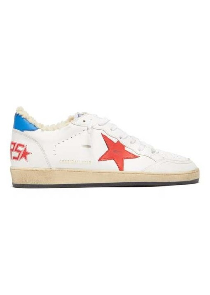 Golden Goose Ballstar shearling-lined leather low-top trainers