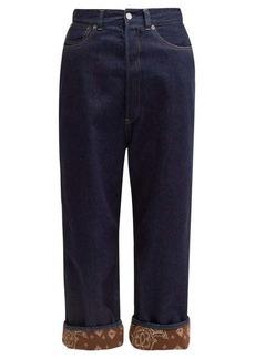 Golden Goose Breezy bandana-trimmed wide-leg jeans