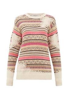 Golden Goose Charlotte distressed-Fair Isle sweater