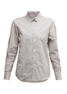 Golden Goose Contrast-check cotton poplin shirt