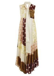 Golden Goose Daisy neck-tie patchwork maxi dress
