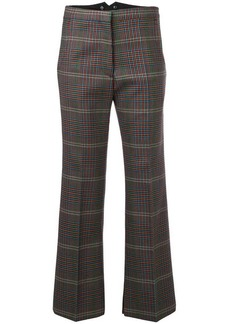 Golden Goose flared cropped check trousers
