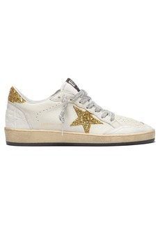Golden Goose Deluxe Brand Ball Star low-top cracked-leather trainers
