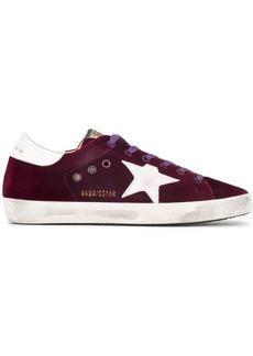Golden Goose Burgundy Superstar Velvet sneakers