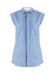 Golden Goose Deluxe Brand Buttoned-back striped cotton sleeveless shirt