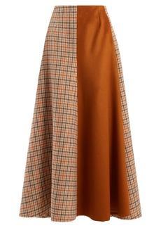 Golden Goose Deluxe Brand Cadria contrast-panel checked skirt