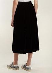 Golden Goose Deluxe Brand Cassiopea high-rise velvet skirt