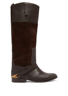 Golden Goose Deluxe Brand Charlye leather and suede knee-high boots