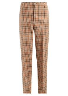 Golden Goose Deluxe Brand Checked wool trousers